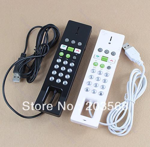 C18+USB Phone Telephone Internet VoIP Skype Handset For Notebook PC Black/White Free Shipping!!!(China (Mainland))