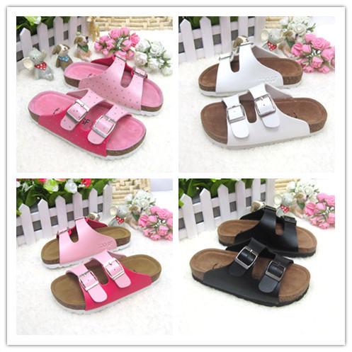 Boy Girl Kid Sandals Summer Birkenstock Shoes/Kids Sildes Not Smelly Feet Original Breathable Shoes/Children Flat Sildes(China (Mainland))