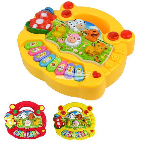 Baby Kid's Popular Animal Farm Piano Music Toy Electrical Keyboard Developmental Piano Toy Free Shipping(China (Mainland))
