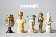 Free Shipping (5 pieces/set) Ancient Egypt Decoration Figure Tutankhamun Nefertiti Golden King Pharaohs Real-looking Toy Model(China (Mainland))