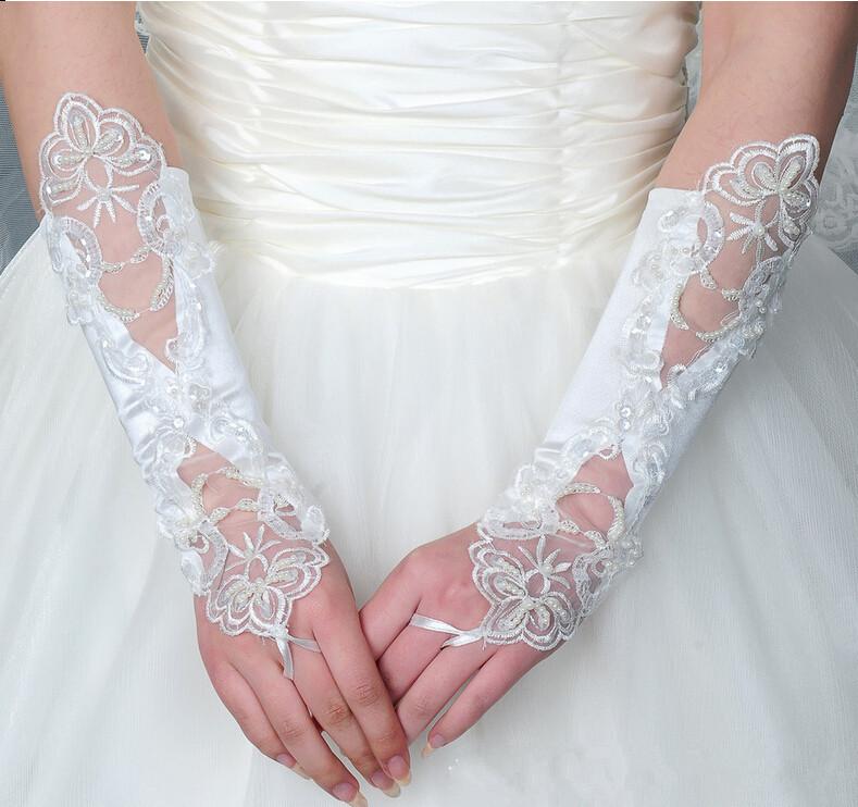 белый свадебные перчатки