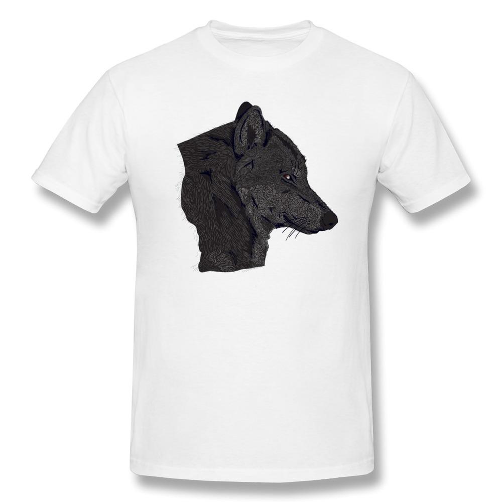 Free Shipping Wolf shirts korea Short-Sleeve mens Family t-shirt for boys(China (Mainland))