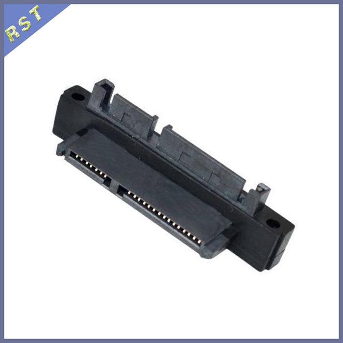 Right Angle SATA 22Pin 7+15Pin Male Plug to SATA 22p 7+15P Female Jack Convertor Adapter(China (Mainland))
