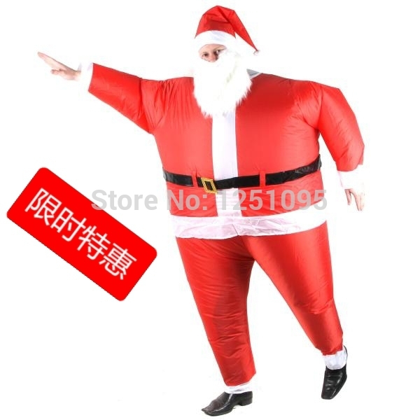fantasia Special Christmas cosplay creative costumes Adult inflatable Santa Claus walking performance clothing free shipping(China (Mainland))