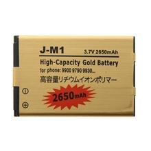 2650mAh High Capacity Gold Li-ion Mobile Phone Battery for BlackBerry J-M1 /9900 / 9790 / 9930(China (Mainland))