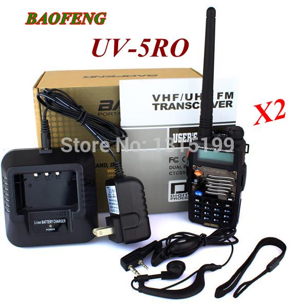 2pcs/lot baofeng Dual Band walkie talkie BaoFeng UV-5RO With Metal Surface 136-174MHz&400-520MHz Waterproof Handheld CB Radio(China (Mainland))