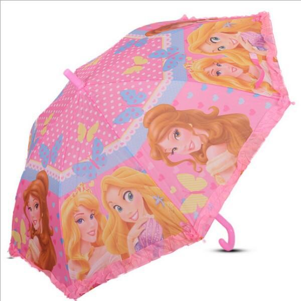 The new quality goods fashion umbrella The princess pattern umbrella Straight rod children environmental protection umbrella(China (Mainland))