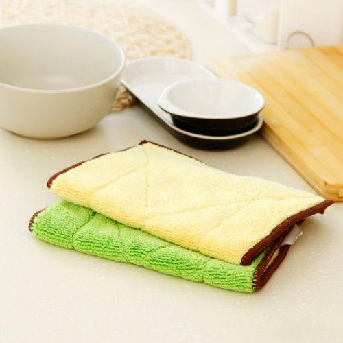 Kitchen Microfiber Washing Dish Bowl Cloth Absorbent Towel Dishcloth Clean Rag(China (Mainland))