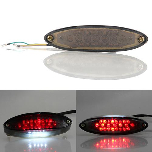 NEW universal fit Smoke casing Lens LED Motorcycle ATV Brake Light smart case DC 12V DIY High Quanlity(China (Mainland))