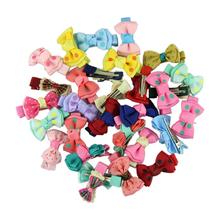 Best seller 30pcs Kids/Girl/Princess/Baby Spot Printing Ribbon Bow Flower Hair Clip Barrette(China (Mainland))