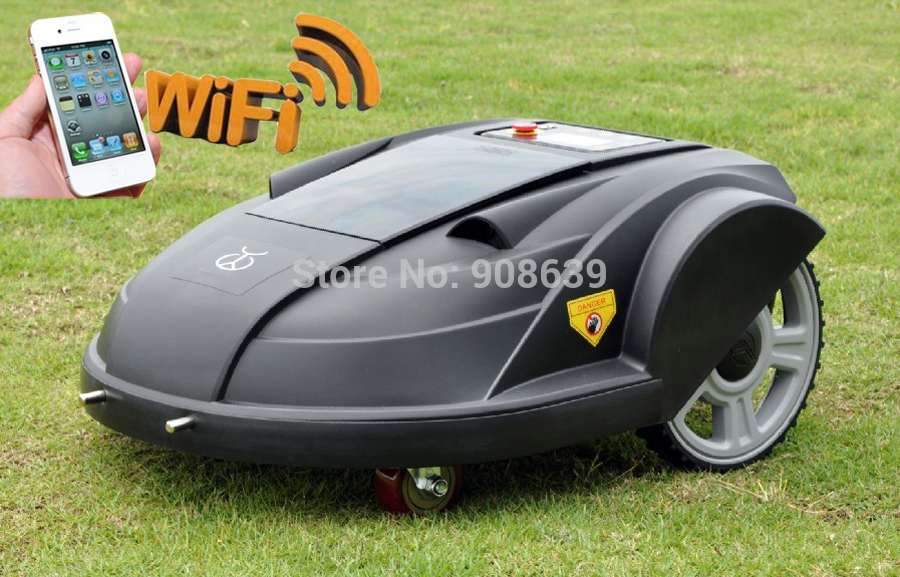 2015 Newest Updated Remote Control Lawn Mower Robot With Water-Proofed Charger,Smartphone Wireless Control(China (Mainland))
