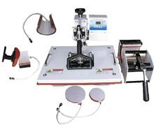 6 in 1 combo heat sublimation machine mug heat press machine 220/110V t-shirt heat transfer machine DHL free shipping
