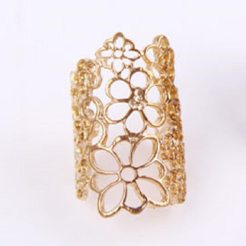 Wedding bijoux anillos aneis jewelry bague Mysterious golden lace opening Ring bague femme engagement ring(China (Mainland))