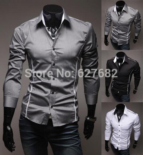 все цены на Мужская повседневная рубашка Chiese Brand ,  Slim Fit Dropshipping m/xxxl YYUCEM25 онлайн
