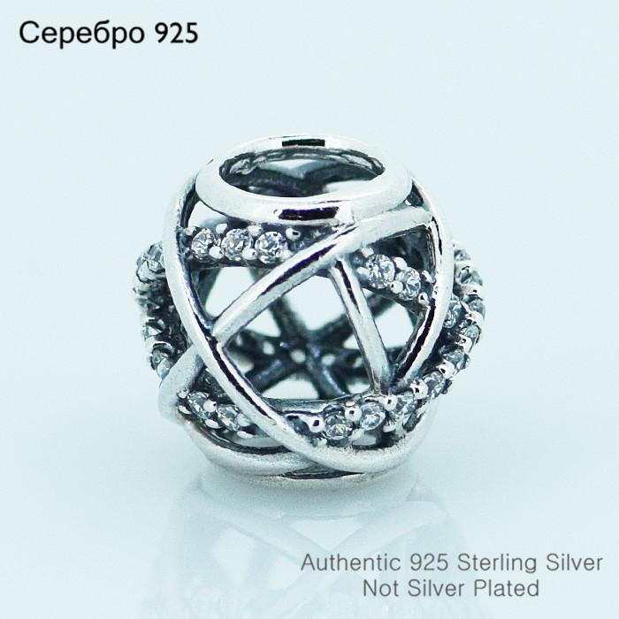 Fits Pandora Charms Bracelet 925 Sterling Silver Original Bead Galaxy Openwork cubic zirconia Charm Women DIY Jewelry(China (Mainland))