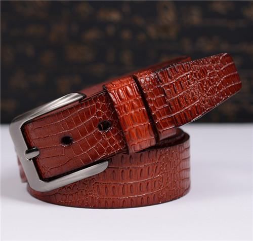 2015 new Men brand belts luxury belts crocodile Leather Single Pin Buckle Original Casual Jeans strap designer belts 05117(China (Mainland))