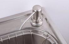 Free shipping New Aluminum Construction kitchen sink liquid soap dispenser promotion deck mounted dispenser bottle(China (Mainland))