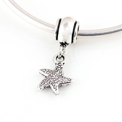 Alloy Starfish Pendant Spring DIY beads Spacer Murano Chunky Bead Charm Pendant Fit For Pandora Bracelet