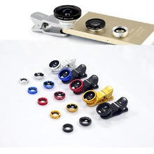 New Phone Filter Portable 0.67x Wide Angle Lens + Fish Eye Lens + Macro Lens With Universal Clip For iphone Samsung Smartphone