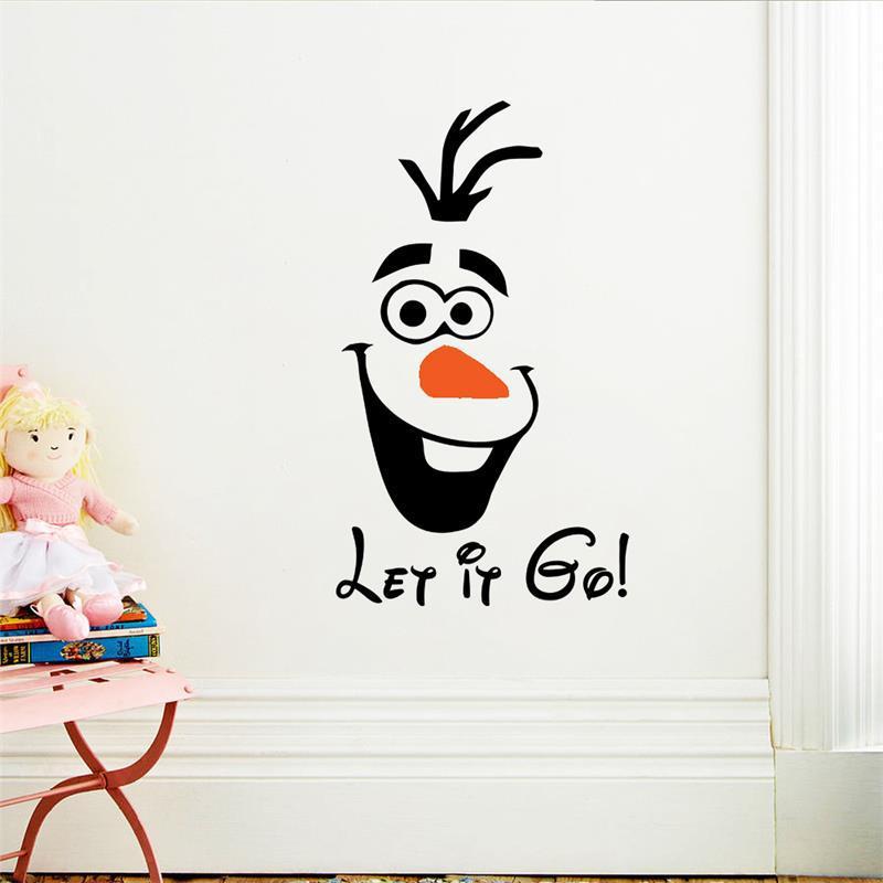 3d olaf door de pvc cartoon muurstickers home decoratie voor kinderen meisjes kamer decoratieve for Kamer decoratie meisje