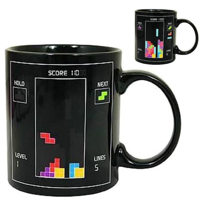 Best Deal Fashin Good Quality  Magic Cup Tetris The Heat Change Mug Tetris Mug Of Thermo Color Cup 1pcs(China (Mainland))