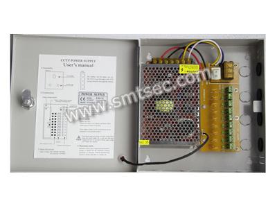 9ch camera output DC12V 5A 60W output Box Power Supply for CCTV surveillance system, Average working >50,000 hours(SAD-1205B)(China (Mainland))