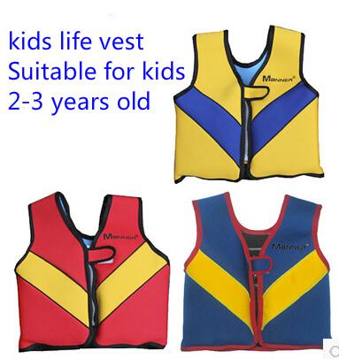 Ollas brand swimming jacket for kids life vest neoprene life jacket for children flood foam survival suit snorkel vest(China (Mainland))