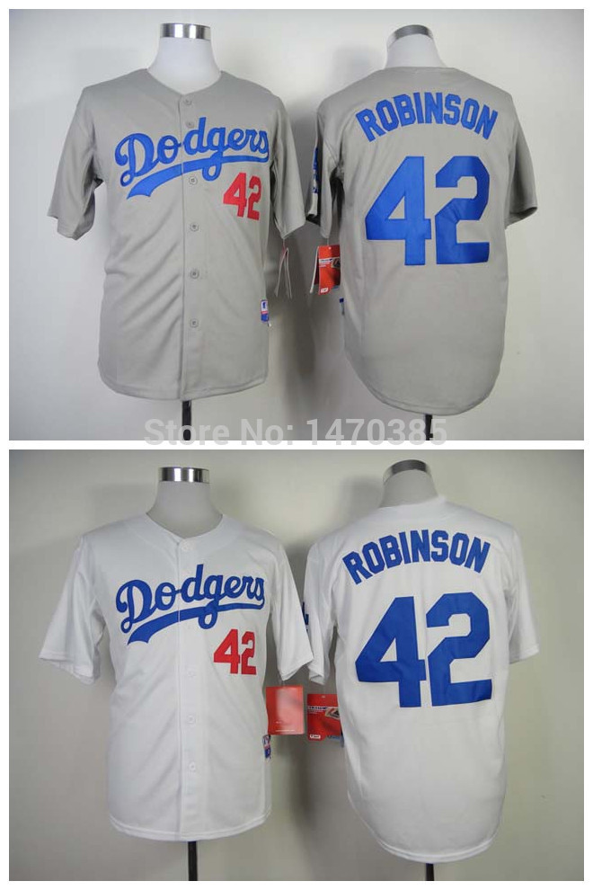 Best Seller Low Price Baseball Jerseys Los Angeles Dodgers Jerseys #42 Jackie Robinson Jerseys Cool Base Stiched Logo Authentic(China (Mainland))
