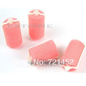 C18+Free Shipping 6 Pcs Magic Hair Salon Care Roller Sponge Curlers Large(China (Mainland))
