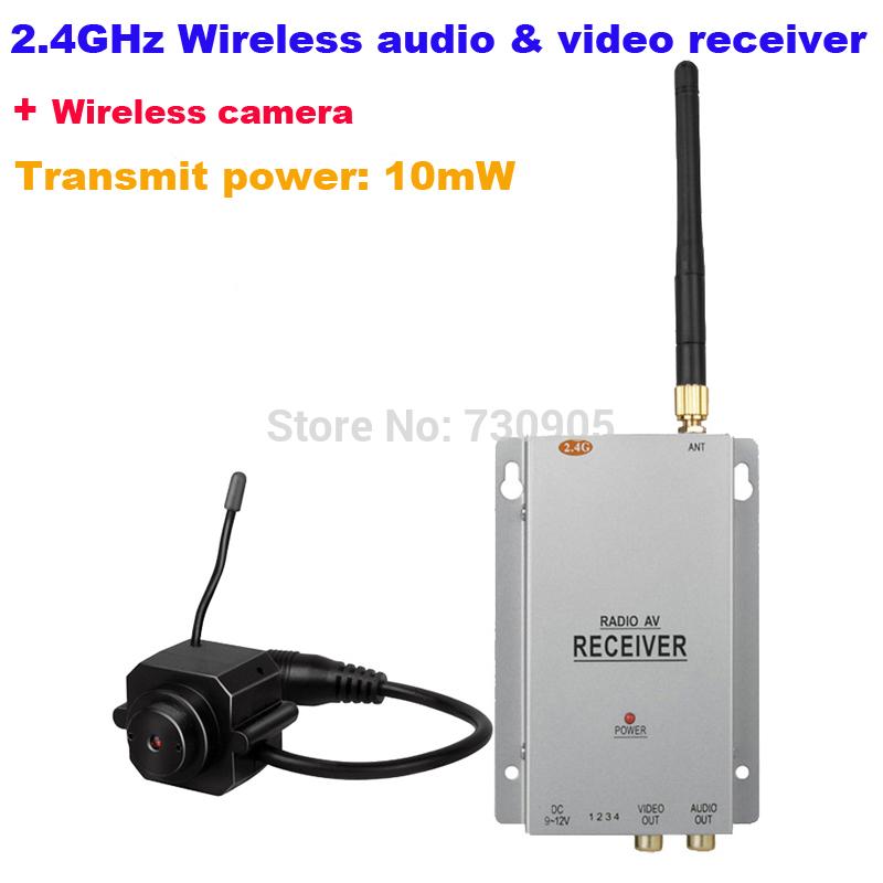 2.4G Hz Wireless audio and video receiver Wireless video transmitter system baby wireless surveillance system(China (Mainland))