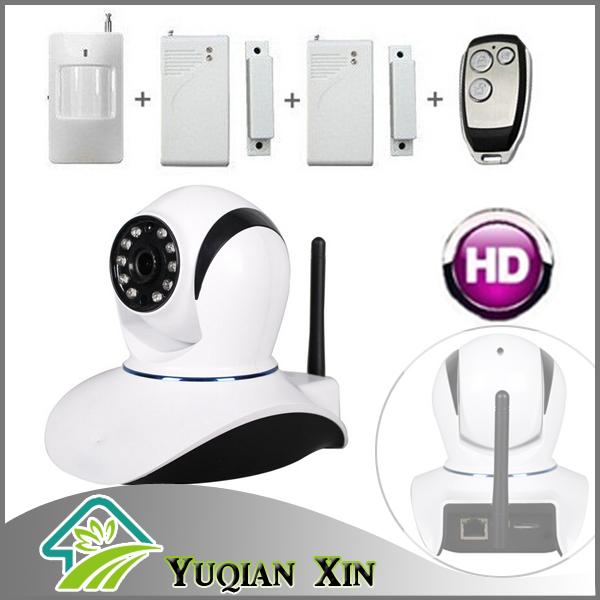 smart home alarm system kit , Wireless video IP camera PIR sensor door alarm wifi remote control(China (Mainland))