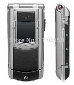 2015 Unlocked luxury VIP Auto Flip Mobile Phone Constellation Ayxta Genuine Leather Luxury quad band cellphone(China (Mainland))