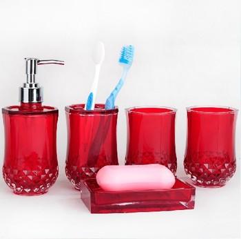 Pas cher l gant cylindrique cristal de bain set m nages salle de bain famili - Set salle de bain pas cher ...