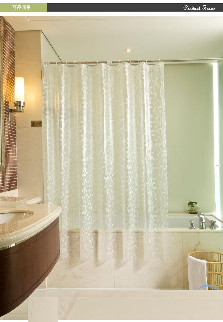 Bathroom Products Pvc Elegant Shower Curtains Solid Bath