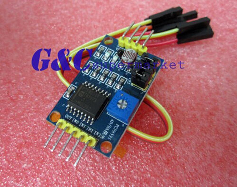 1PCS PCF8591 AD/DA Converter Module Analog To Digital Convers+Cable(China (Mainland))