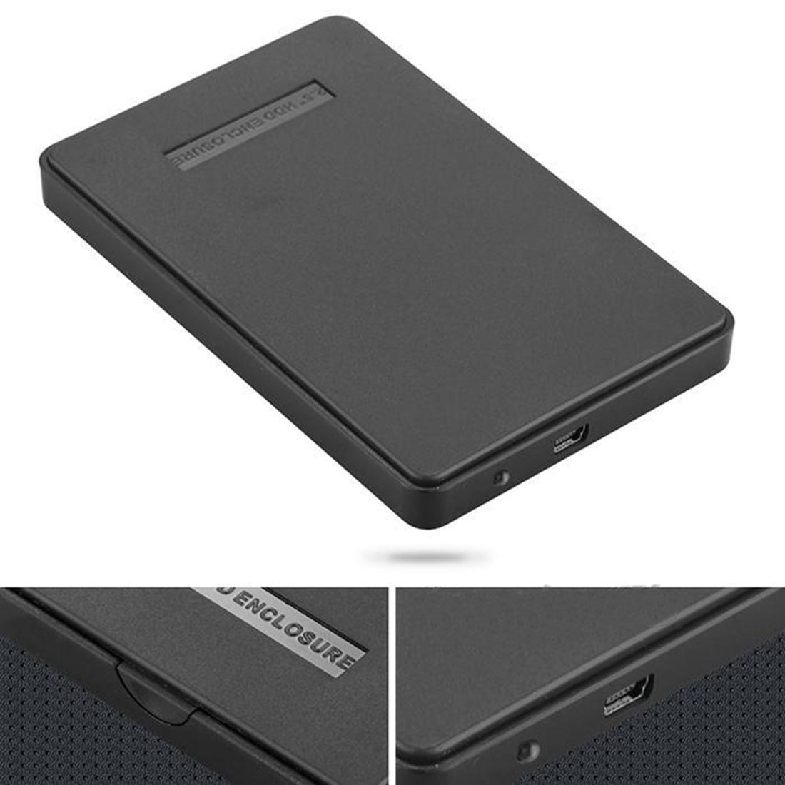 Black 2.5 Inch 2TB Portable USB 2.0 SATA Hard Disk Drive Enclosure External Cover Box(China (Mainland))