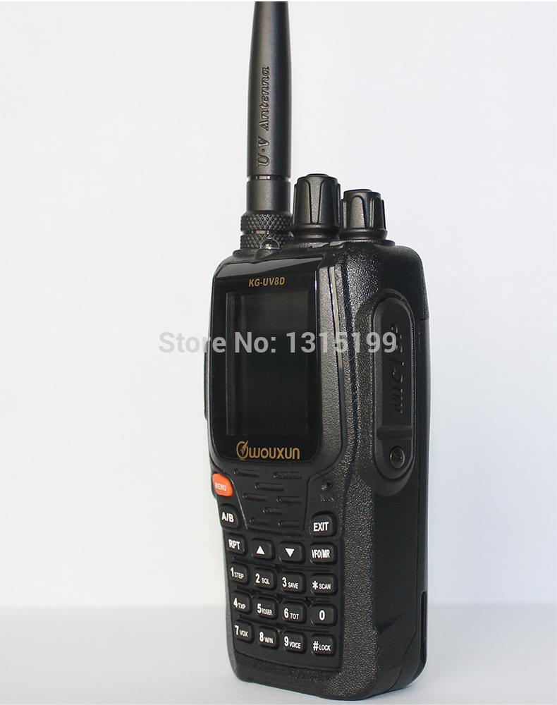 2pcs/lot WOUXUN KG-UV8D dual band VHF&UHF dual display waterproof walkie talkie KG-UV8D two way radio with Duplex Repeater(China (Mainland))