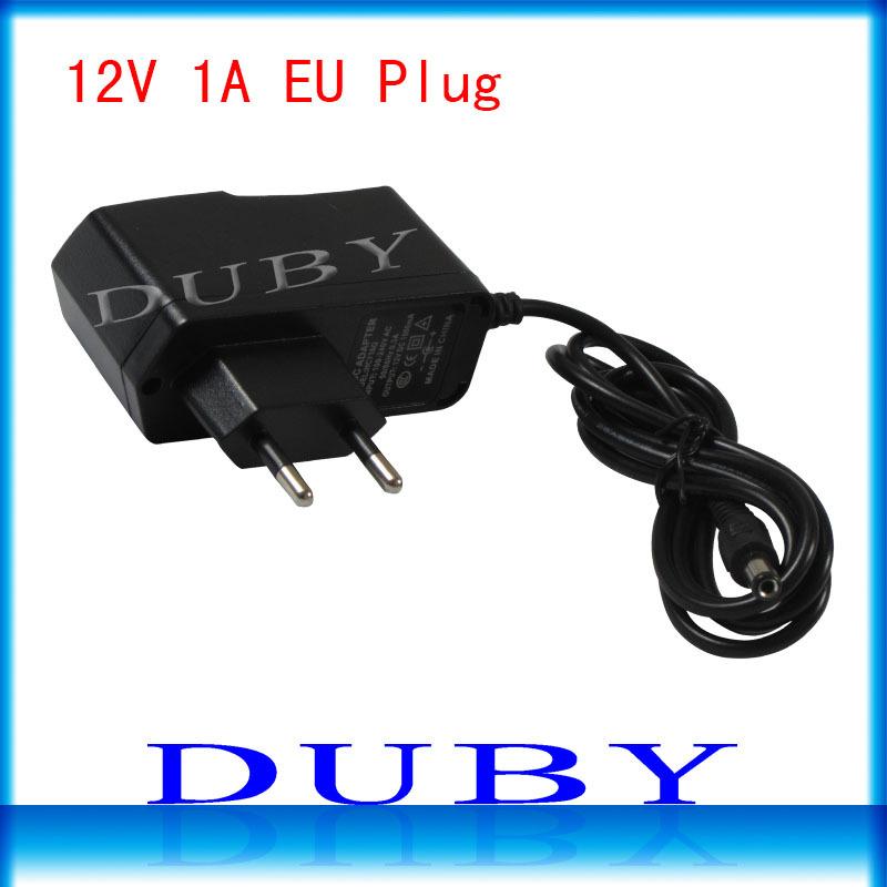 5Pcs/lot 12V1A New AC 100V-240V Converter power Adapter DC 12V 1A 1000mA Power Supply EU Plug DC 5.5mm x 2.1mm Free shipping(China (Mainland))