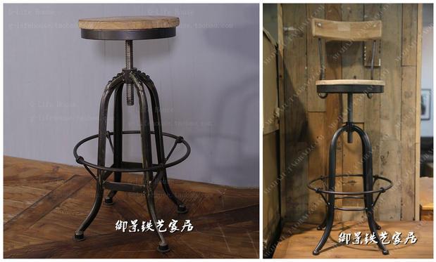 American loft retro cadeiras de bar fezes bar móveis de madeira maciça antigo bar banco do bar fezes para fazer o velho frente cadeiras de escritório(China (Mainland))