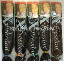 free shipping fashion X-pression ultra braiding hair 10colors in stock 82inch 180g x-pression hair 100% kanekalon untra braids(China (Mainland))