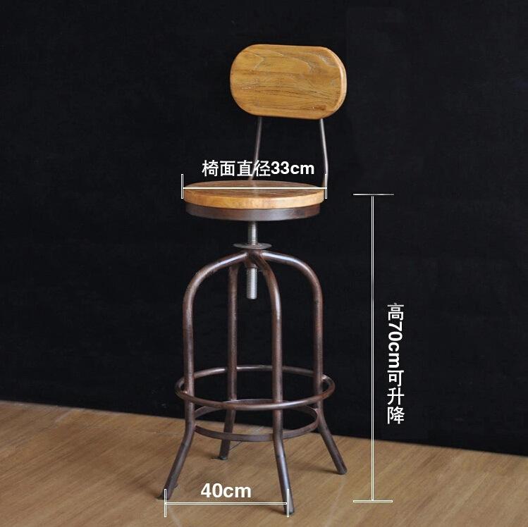 País da américa pode ser personalizado retro cadeira bar tamboretes de madeira ferro forjado cadeira elevador de cadeira pode atacado(China (Mainland))