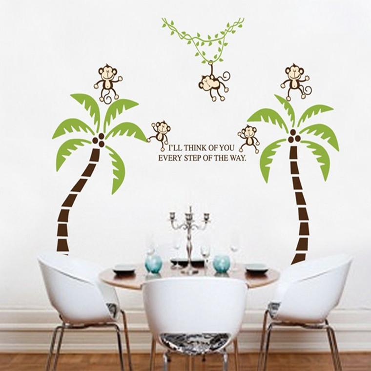 wohnzimmer palme kaufen:Palm Tree Wall Stickers