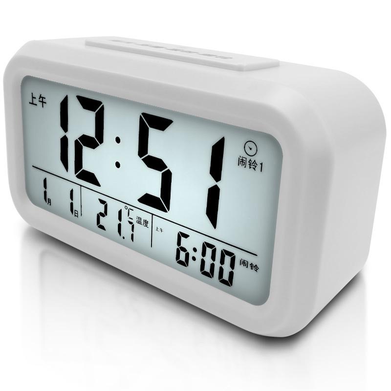 Students Children creative small alarm mute luminous bedroom stylish minimalist electronic bedside clock personalized DN5(China (Mainland))