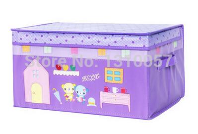 Eco-friendly Folding Non-woven Fabric Storage Box Clothing Organizer Toys Container Laundry Bag Finishing Box(China (Mainland))