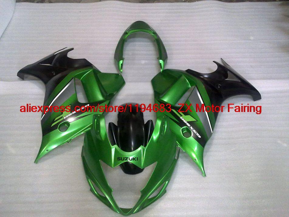 08-13 Katana GSX650F Body Kits 2013 Matter Black Pearl Green Compression Bodywork GSX650 2008(China (Mainland))