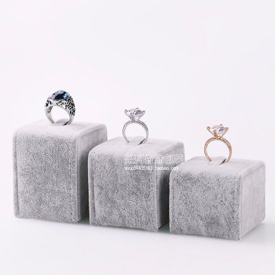 Free shipping Ring  Jewelry display stand jewelry stand props plush velvet jewelry tray Ice linen Korean wild(China (Mainland))