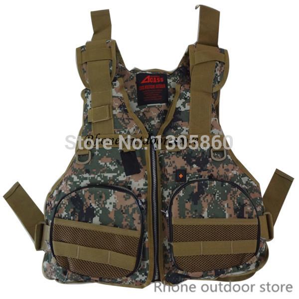 Camouflage fishing life jackets life jackets for kayak fishing detachable malfunction outdoor hunting jackets(China (Mainland))
