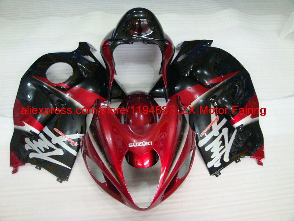 97 - 07 HAYABUSA Motorcycle Fairing 2000 Pearl Red Black Silvery INJECTION Motorcycle Fairing HAYABUSA 2004(China (Mainland))