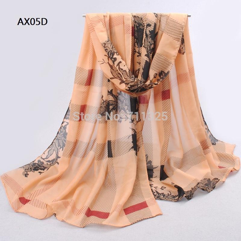 Chiffon Silk Scarf Female Summer Autumn Wrap Long Design Air Conditioning Cape Silk Scarves Shawl AX05(China (Mainland))