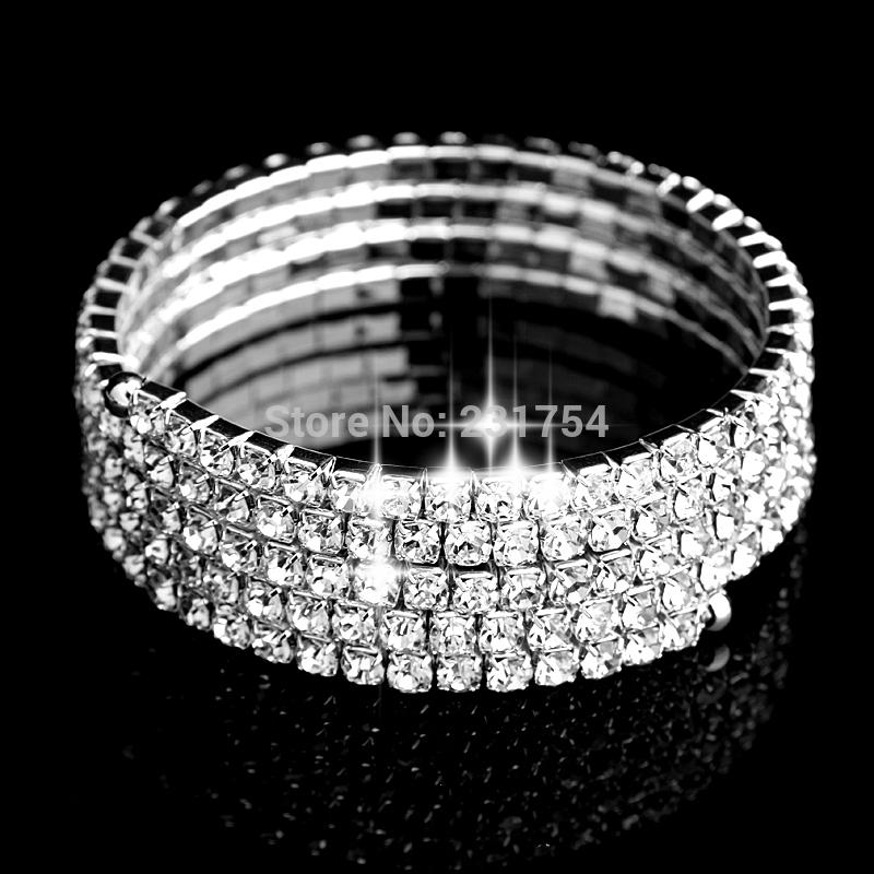 Hot 4 Spiral Upper Arm Cuff Armlet Bracelet Rhinestone Armband Armlet Bracelets Bangle Sexy Women Bracelet Jewelry(China (Mainland))